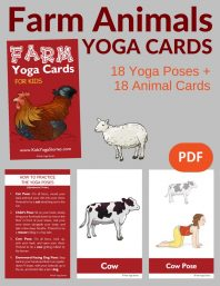 Farm Animals Yoga Cards for Kids PDF Download Image