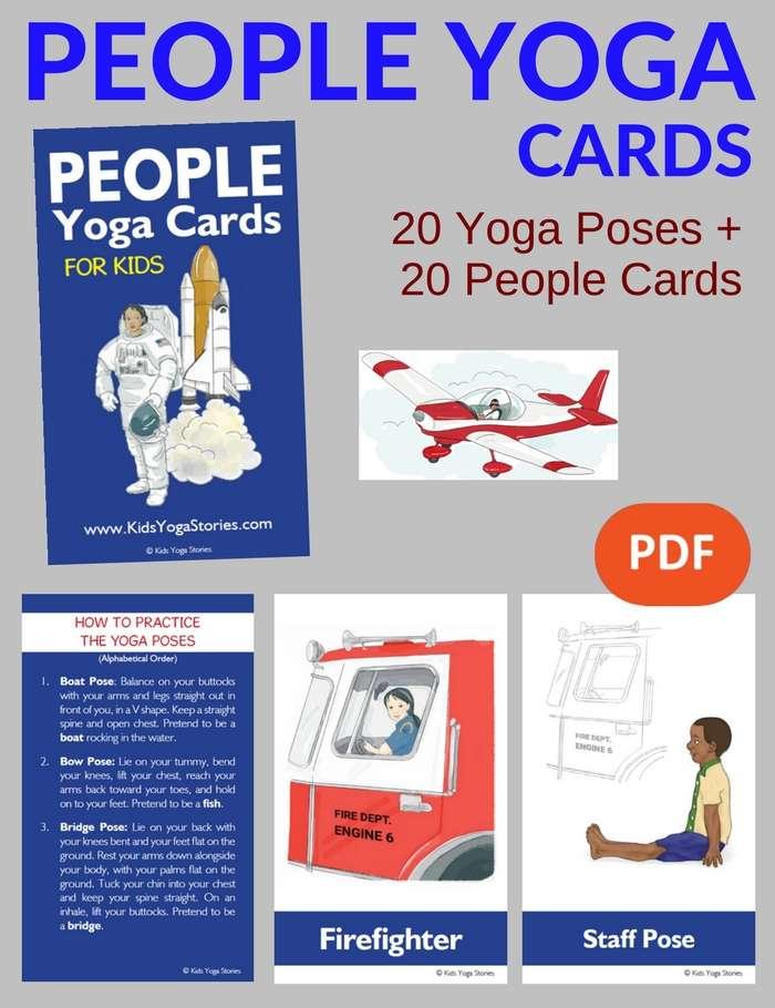People Yoga Cards for Kids PDF Download Image