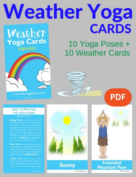 Weather Yoga Cards for Kids PDF Download Image