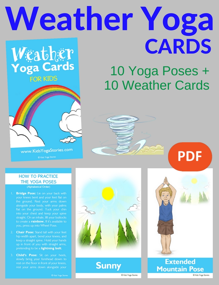 weather yoga cards for kids pdf download image - Weather Pics For Kids