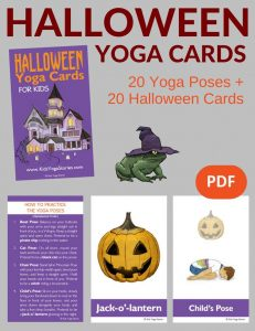 Halloween Yoga Cards for Kids PDF Download Image