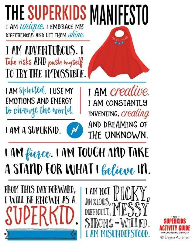 SuperKids Manifesto Poster