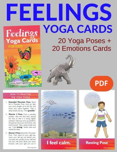 Feelings Yoga Cards for Kids PDF Download Image