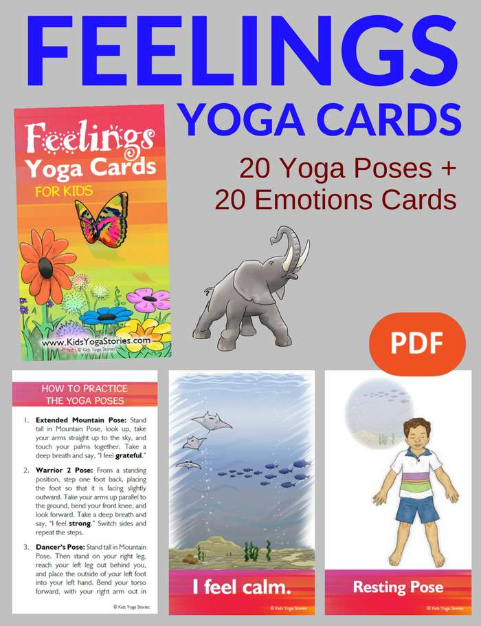 Feelings Yoga Cards for Kids PDF Download Image