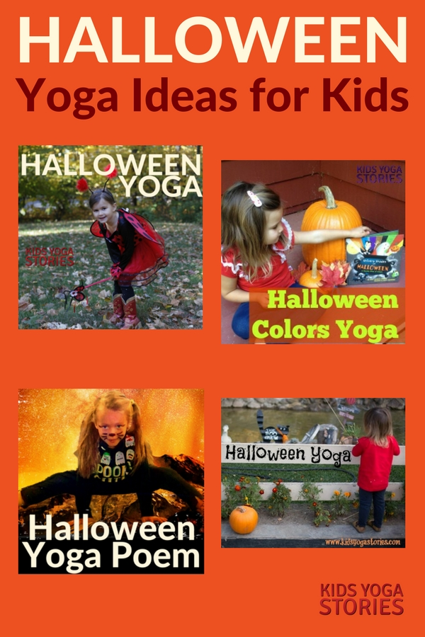 Collection of Halloween Ideas for Kids Yoga - to add movement to your Halloween celebrations | Kids Yoga Stories