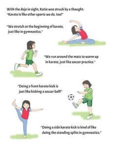 Katie's Karate Class (English) Image