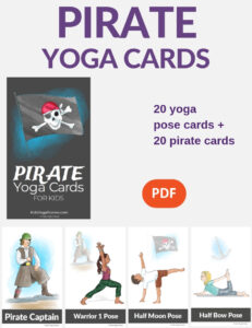pirate yoga, pirate activities for kids | Kids Yoga Stories