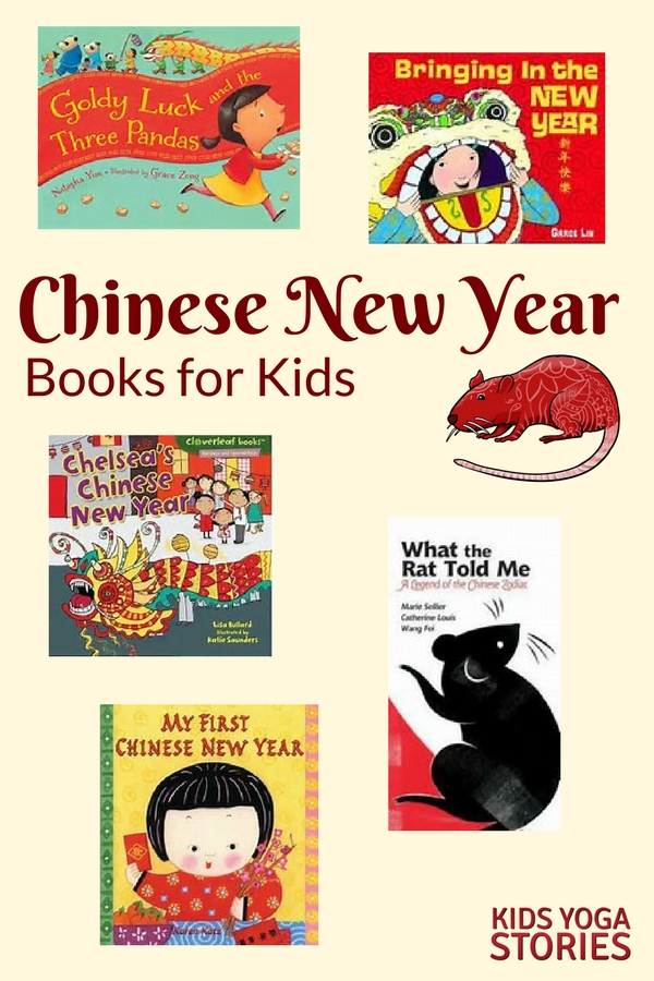 Chinese New Year Books for Kids - with matching Chinese New Year Zodiac Animal Yoga Poses for Kids | Kids Yoga Stories