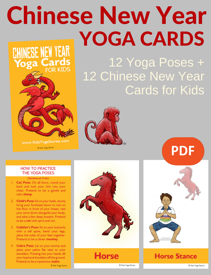 Chinese New Year Yoga Cards for Kids PDF Download - Kids Yoga Stories
