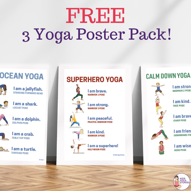 58 Fun And Easy Yoga Poses For Kids Printable Posters