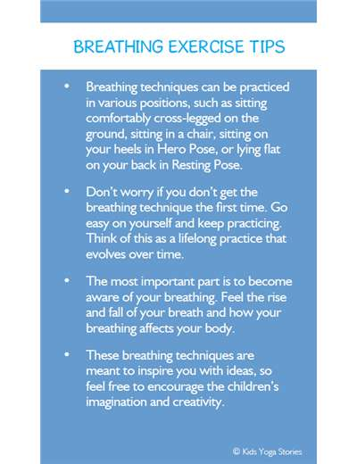 Breathing Exercise Cards for Kids PDF Download Image