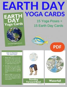 Earth Day Yoga Cards for Kids PDF Download Image