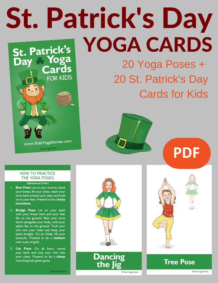 St. Patrick's Day Yoga Cards for Kids | Kids Yoga Stories