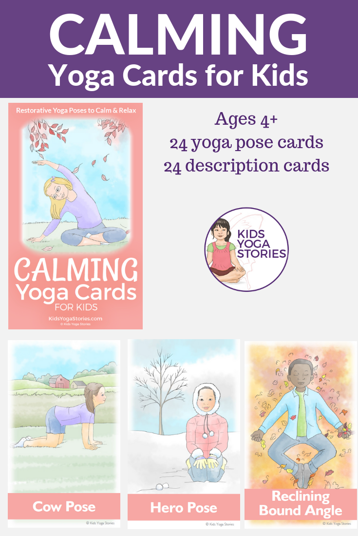 Calming yoga, yoga for soothing, calm yoga poses for kids | Kids Yoga Stories