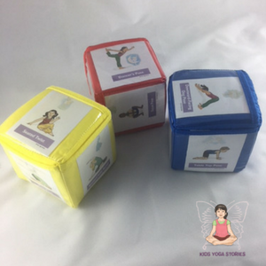 Fairy Yoga Cards for Kids slid into the pockets of slacking blocks | Kids Yoga Stories