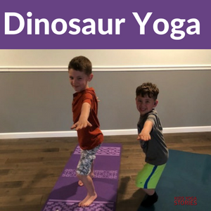 Dinosaur Yoga Lesson Plan - to learn about dinosaurs through yoga poses | Kids Yoga Stories