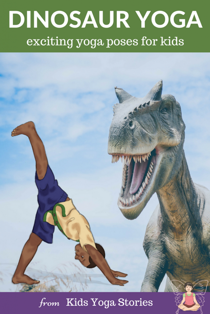 Dinosaur Yoga: learn about dinosaurs through yoga poses for kids | Kids Yoga Stories