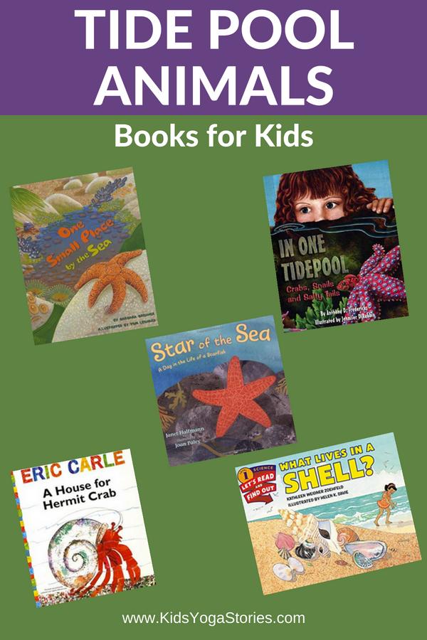 Tide Pool Animal Books for Kids | Kids Yoga Stories