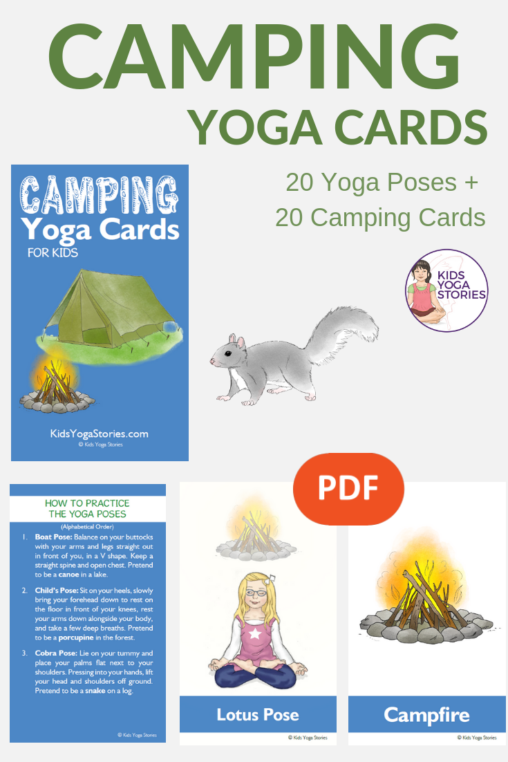 camping yoga poses, camping with kids ideas | Kids Yoga Stories