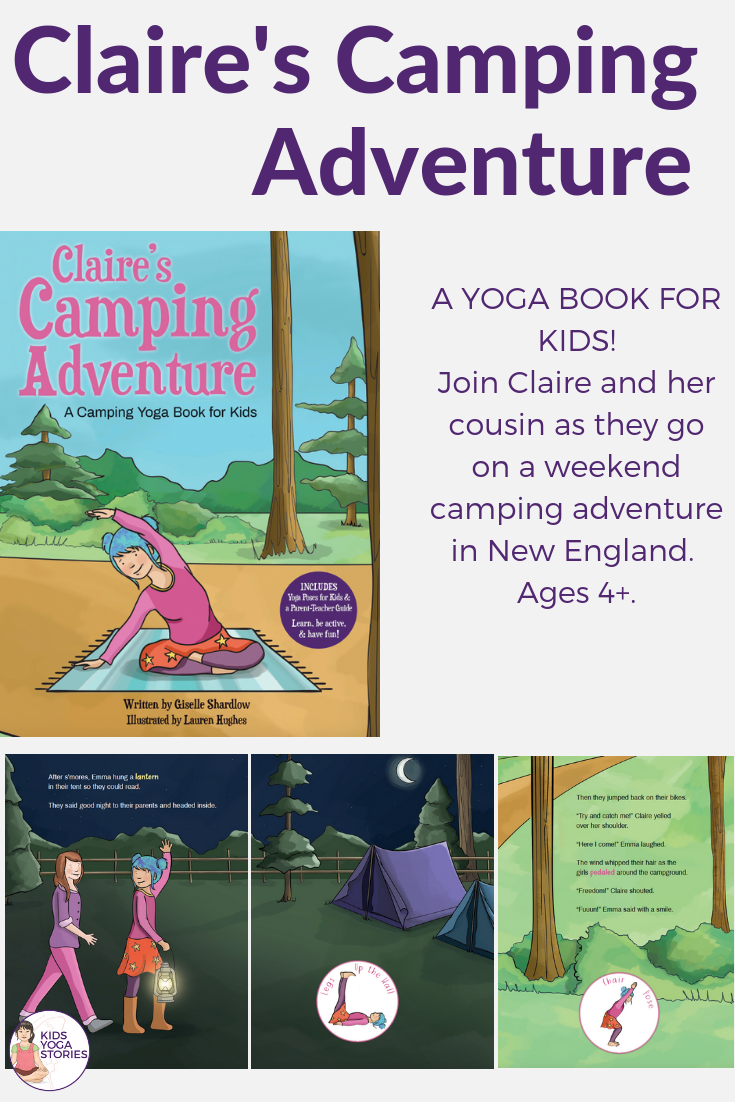 camping yoga poses, camping ideas for kids | Kids Yoga Stories