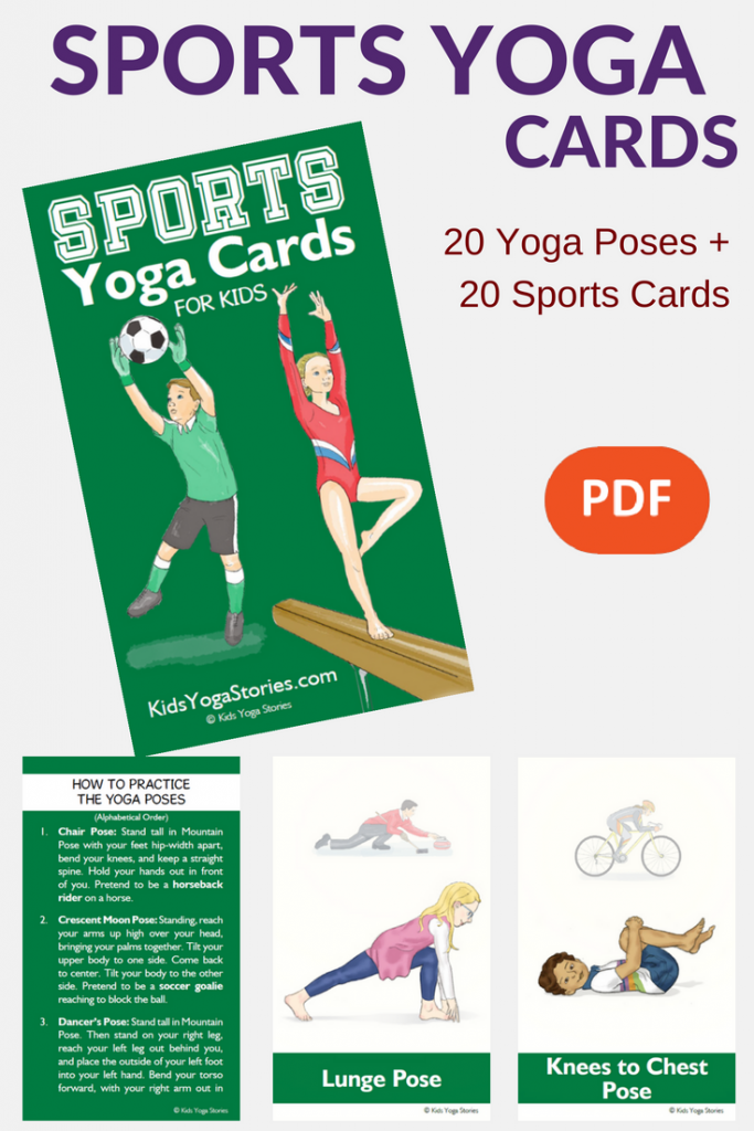 Sports Yoga Poses for Kids. Try out new sports through engaging yoga poses for kids | Kids Yoga Stories