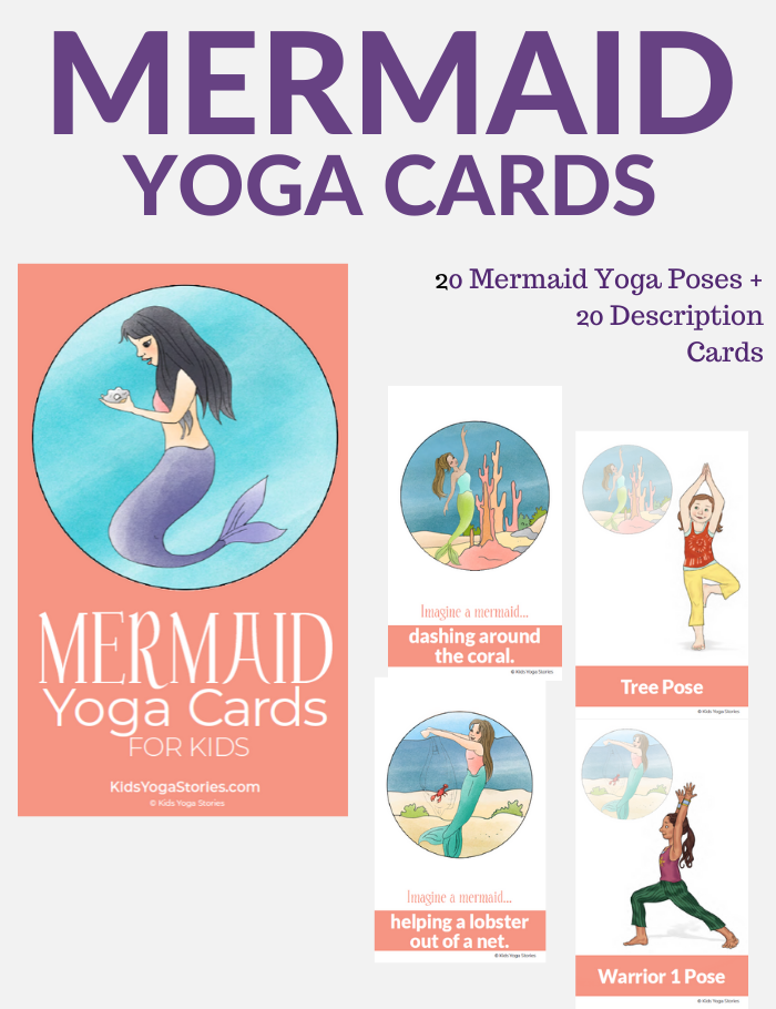 Mermaid Yoga Cards for Kids | Kids Yoga Stories