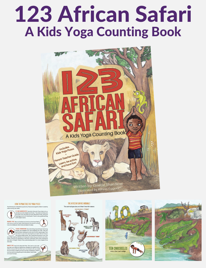 African Safari Kids Yoga Counting Book | Kids Yoga Stories