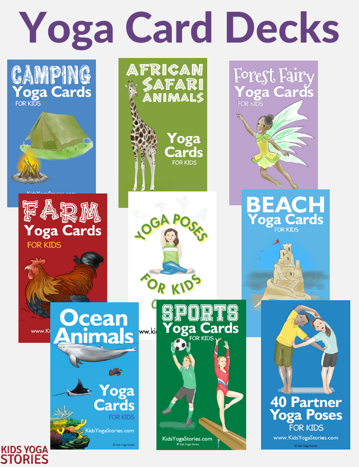 yoga card decks, digitial yoga cards, printable yoga cards for kids | Kids Yoga Stories