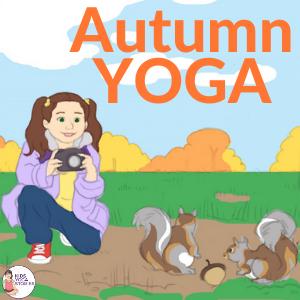 10 autumn yoga poses for kids  printable poster  kids
