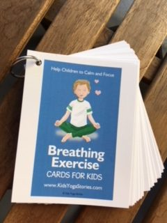 Breathing Exercise Cards on a ring | Kids Yoga Stories