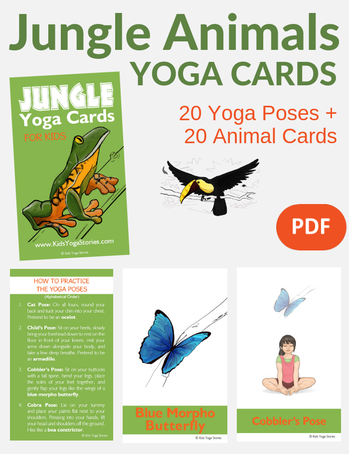 jungle animals activities, yoga poses for kids, jungle poses | Kids Yoga Stories