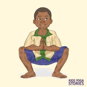 Squat pose   Kids Yoga Stories
