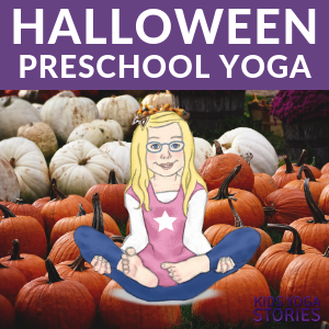 Halloween Preschool Yoga, Yoga poses with pumpkins | Kids Yoga Stories