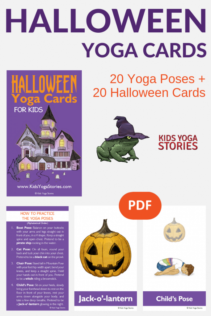 Halloween Yoga Cards for Kids | Kids Yoga Stories