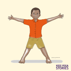 star pose, yoga pose for kids | Kids Yoga Stories