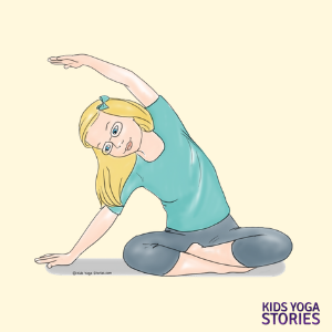 Yoga poses for children, Yoga for kids, seated side pose | Kids Yoga Stories