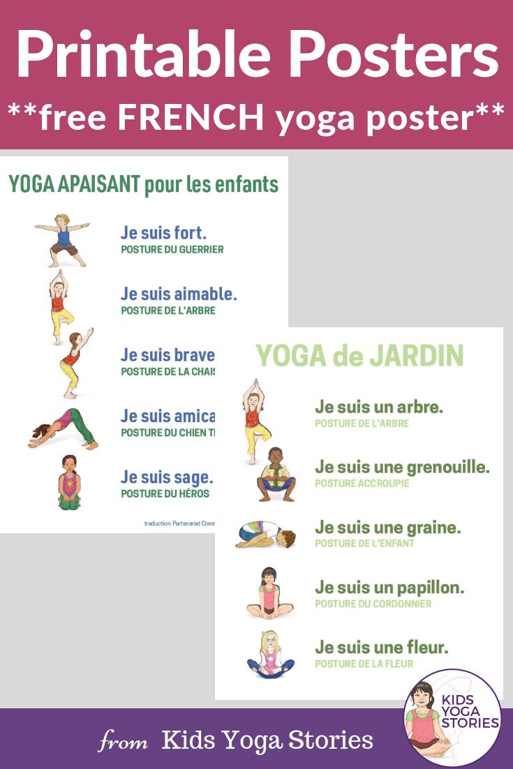 French yoga poses, french yoga, yoga poses in French | Kids Yoga Stories