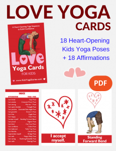 love yoga cards for kids, kids love cards | Kids Yoga Stories