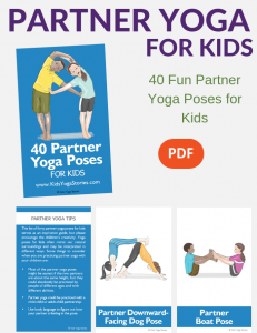 partner yoga ideas, cards, poses | Kids Yoga Stories