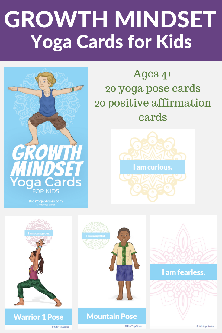 growth mindset cards for kids, yoga poses for growth mindset | Kids Yoga Stories