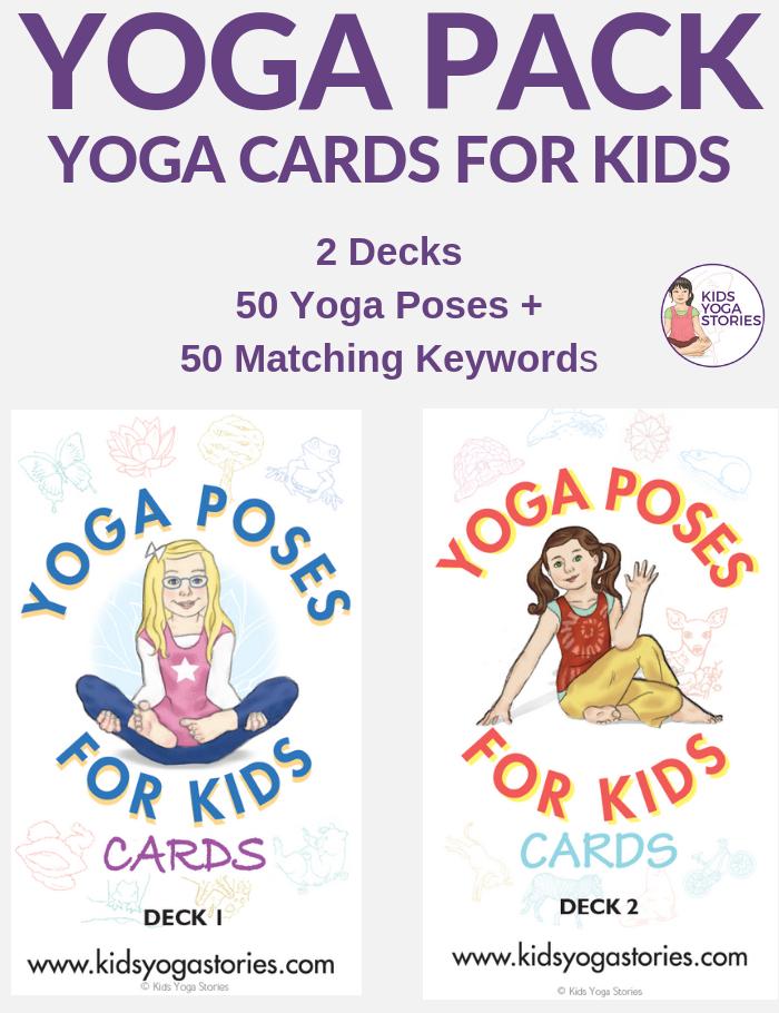 yoga cards for kids, printable yoga cards | Kids Yoga Stories