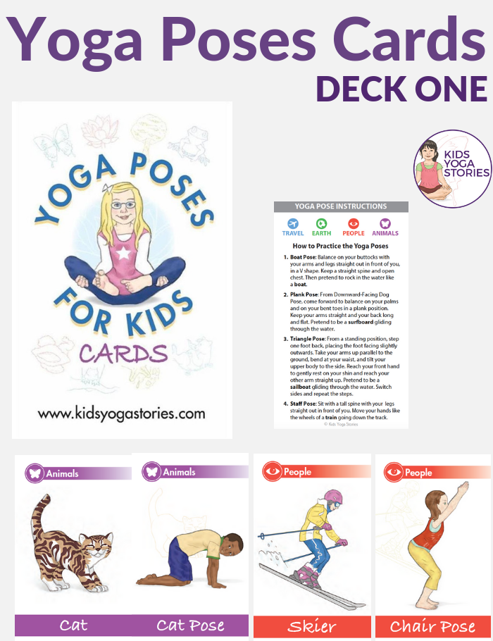 yoga poses for kids cards | Kids Yoga Stories