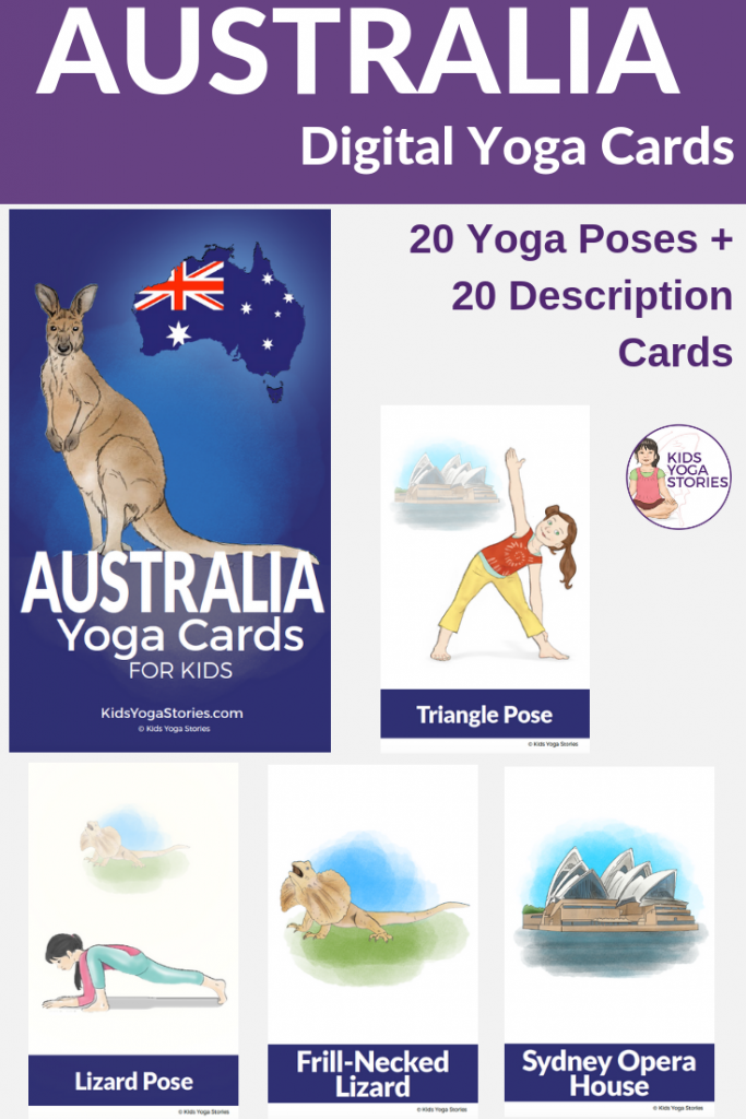 Australia Day for Kids | printable yoga cards | Kids Yoga Stories