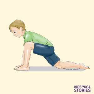 low lunge yoga pose for kids | Kids Yoga Stories
