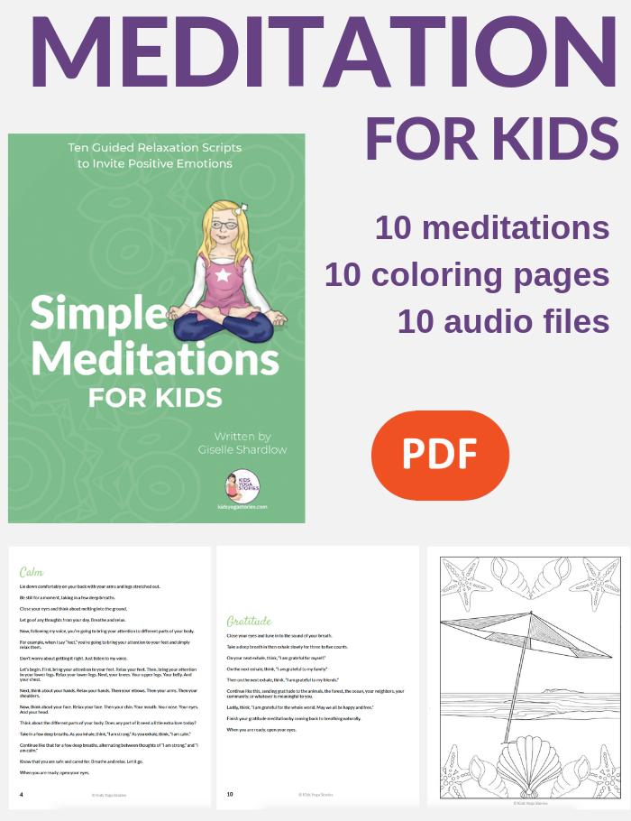 meditations for kids, simple meditations | Kids Yoga Stories