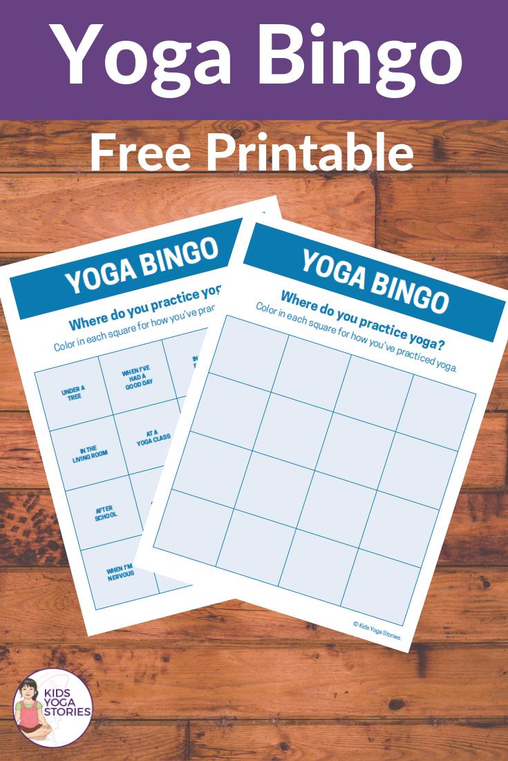 yoga games for kids, yoga bingo | Kids Yoga Stories