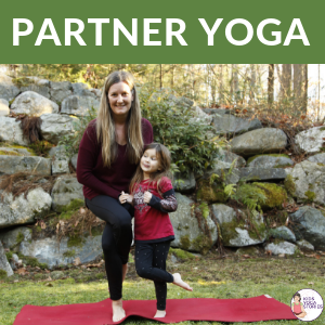 Partner Yoga Poses, partner yoga with kids | Kids Yoga Stories