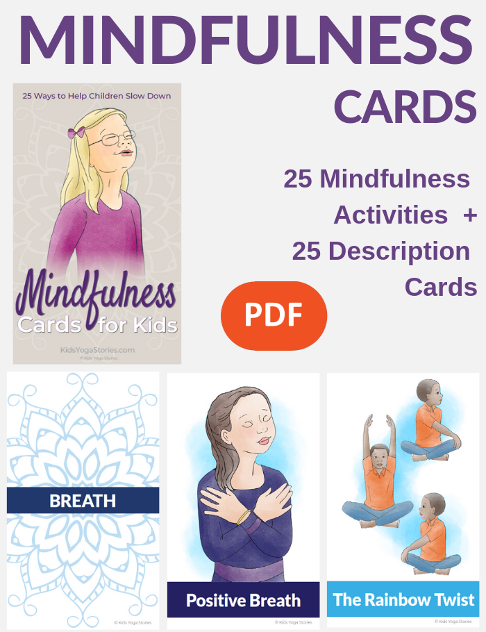 mindfulness digital cards for kids | Kids Yoga Stories