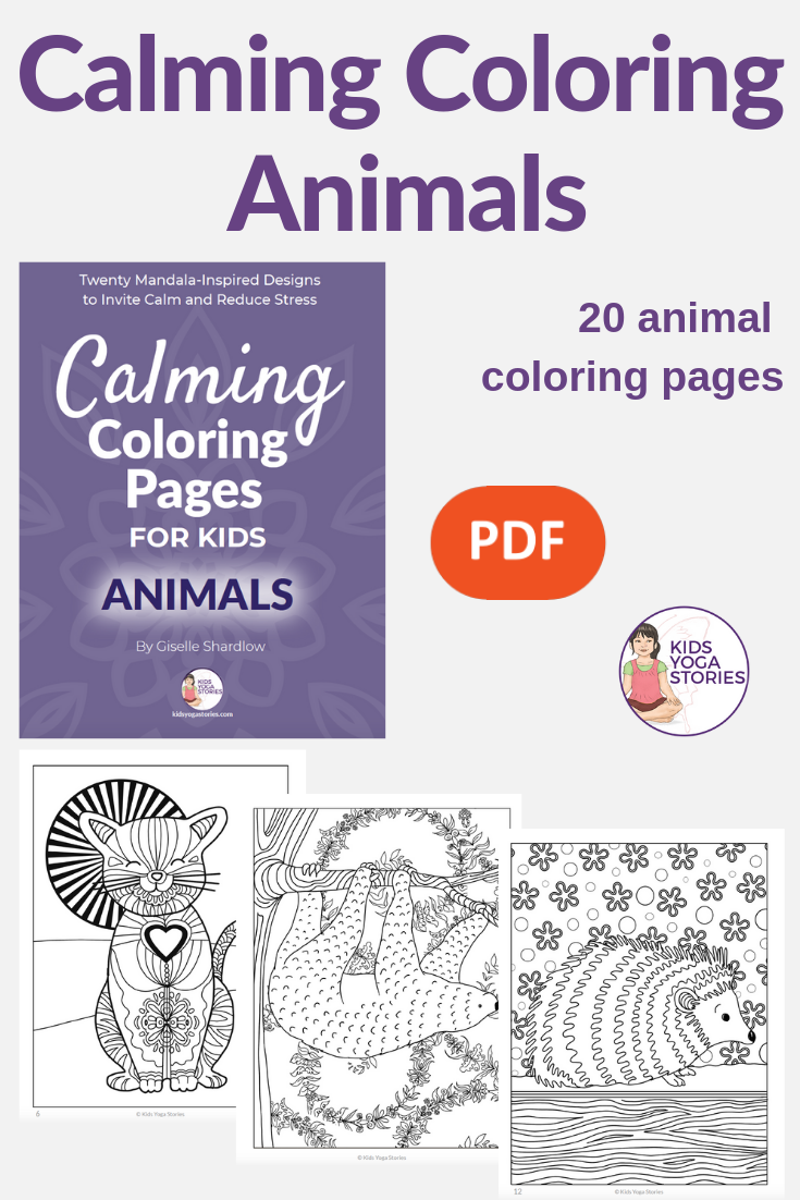 Calming Coloring Books for Kids | Kids Yoga Stories