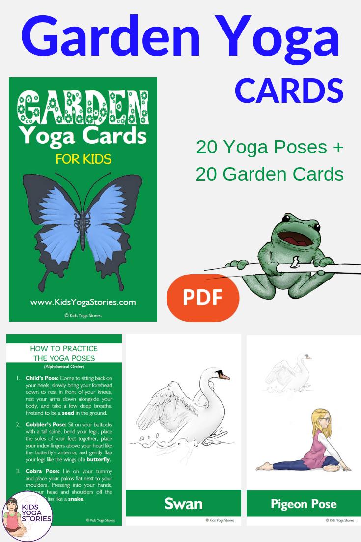 garden yoga ideas for kids, garden activities, yoga poses for spring | Kids Yoga Stories